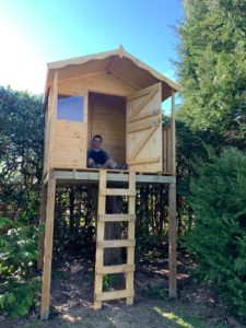 Tree house that was built by David Offord