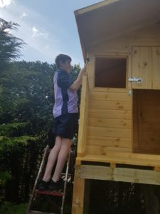 Treehouse that was built by David Offord during lockdown